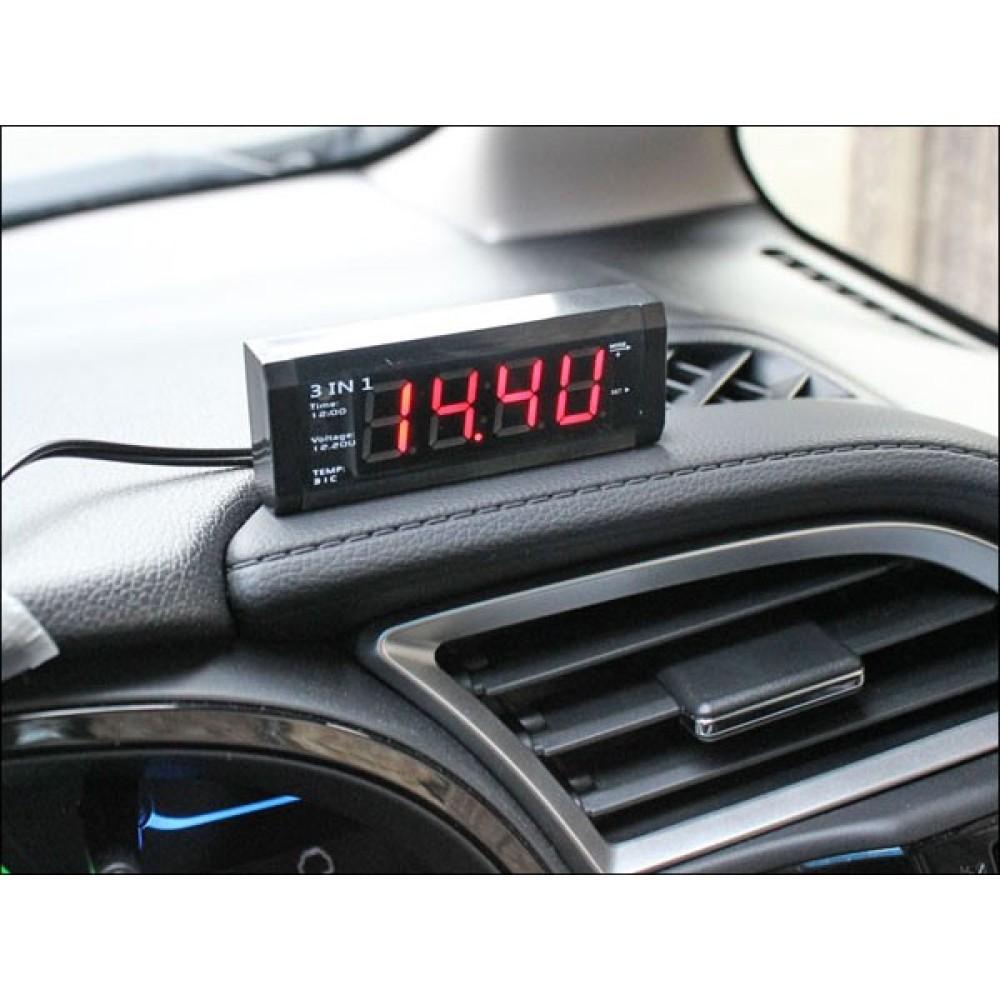 Digitális voltmérő, hőmérő, óra 3:1-ben WF-518