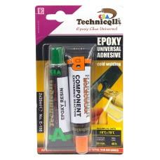 Kétkomponensű epoxy kalapács ragasztó 2x20 ml Technicoll E-198