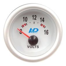 Műszer feszültségmérő kék ledes 52 mm LED7701