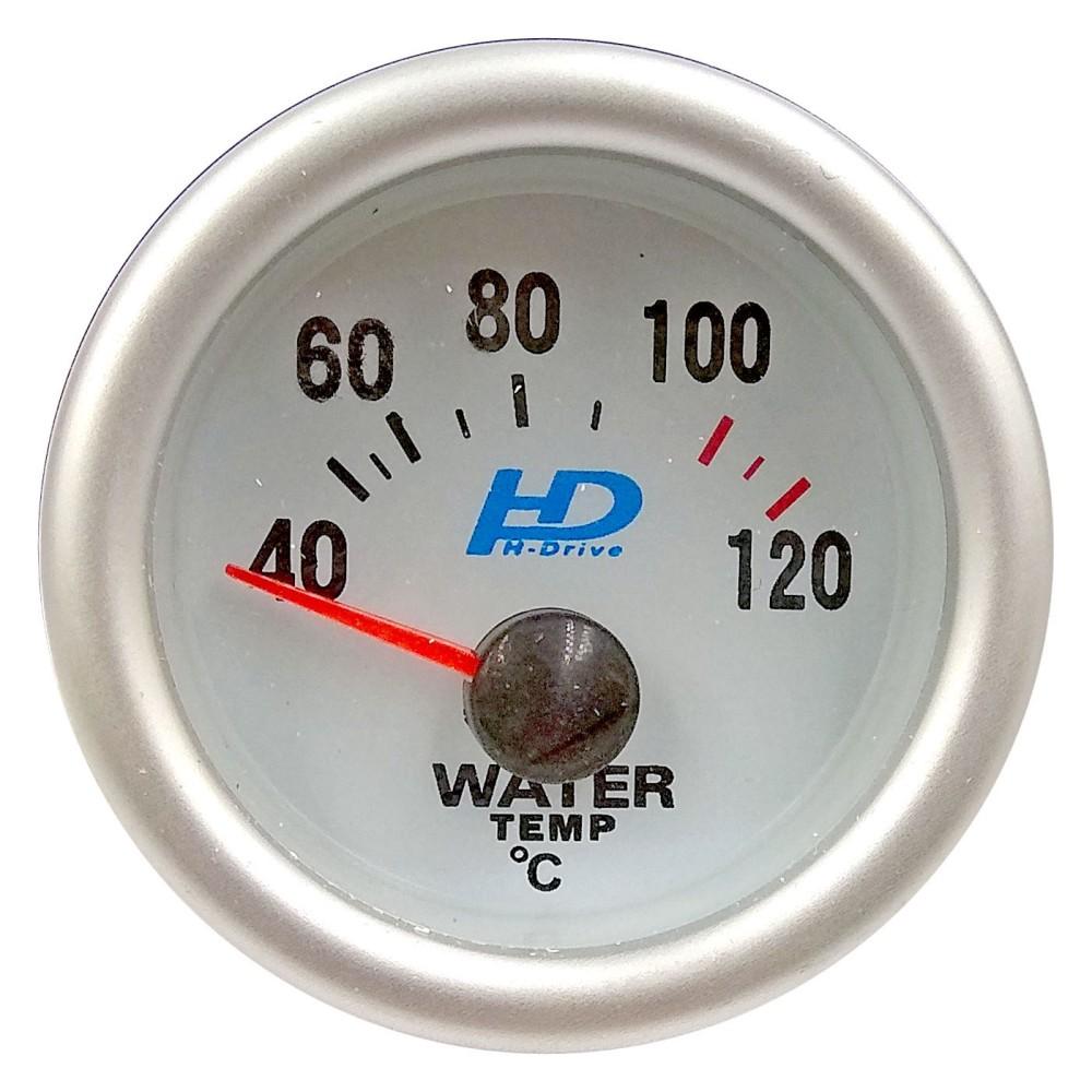 Műszer kék ledes vízhőfok mérő átm.52mm LED7702