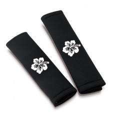 Biztonsági öv párna fekete My Flower - fehér virág 17476