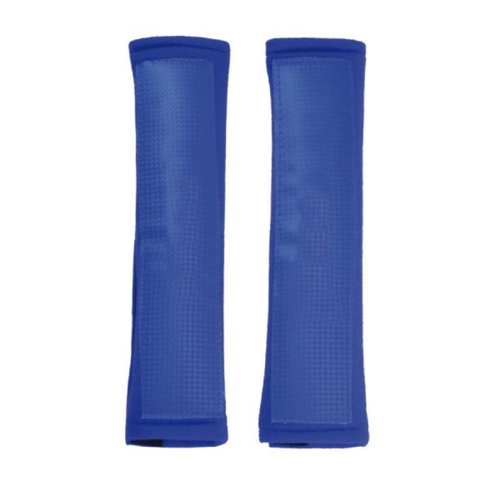 Biztonsági öv párna kék plüss AM5616