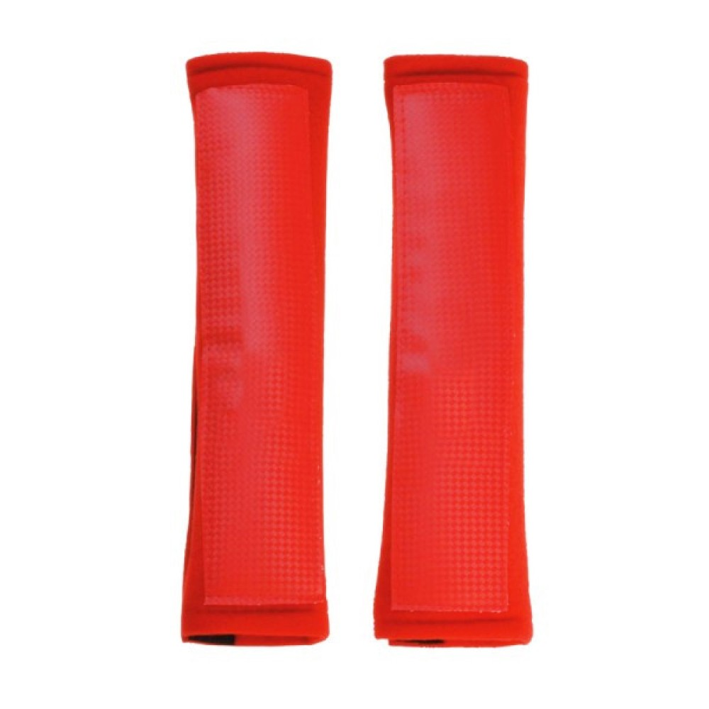 Biztonsági öv párna piros plüss AM5623