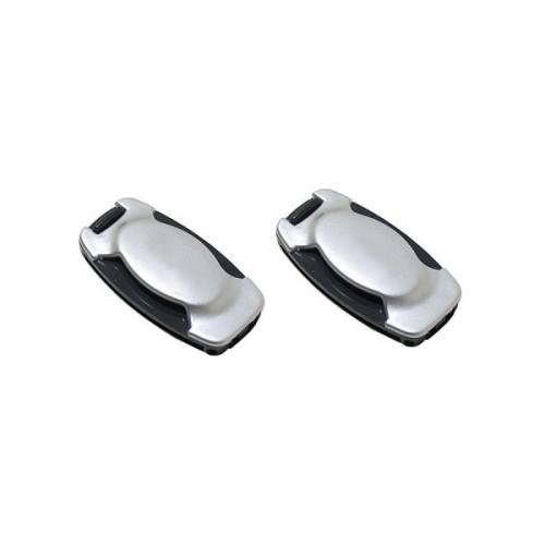 Biztonsági öv rögzítő csipesz szürke AM0505