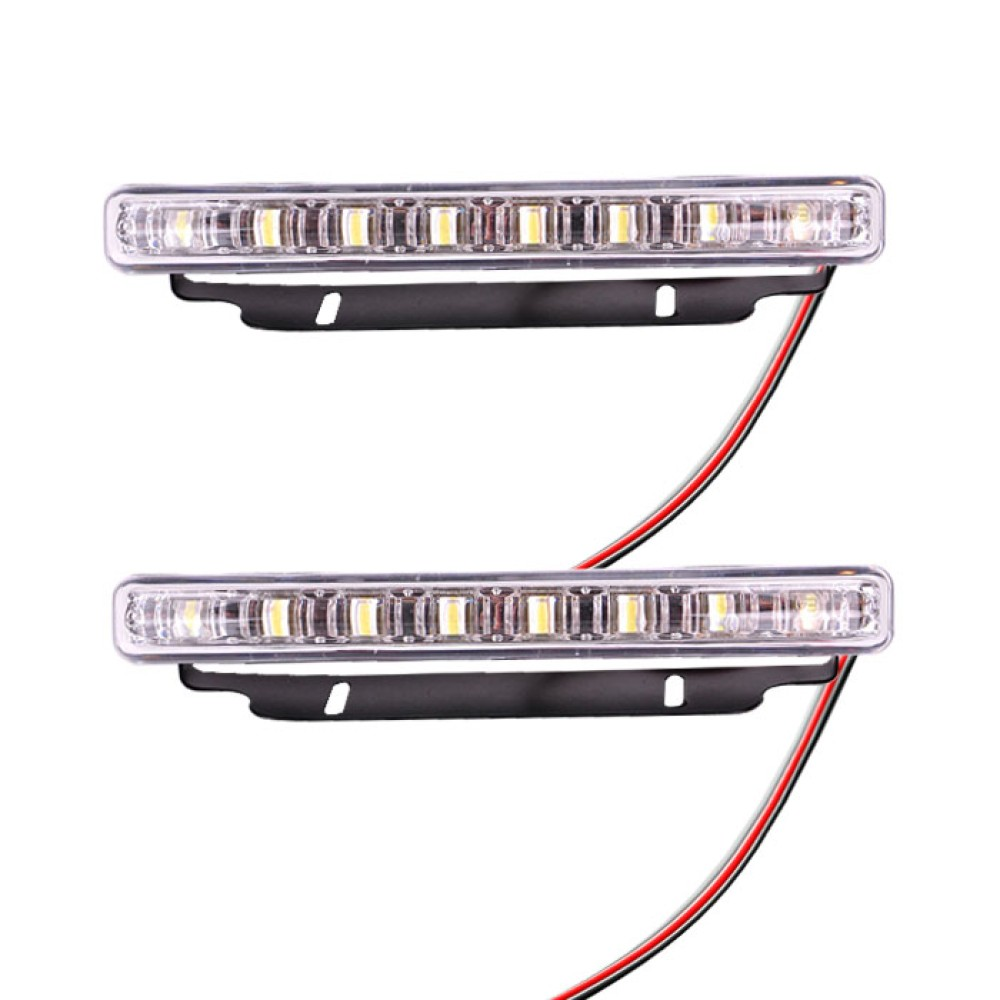 DRL Nappali menetfény 2x8db fehér LED LA-589