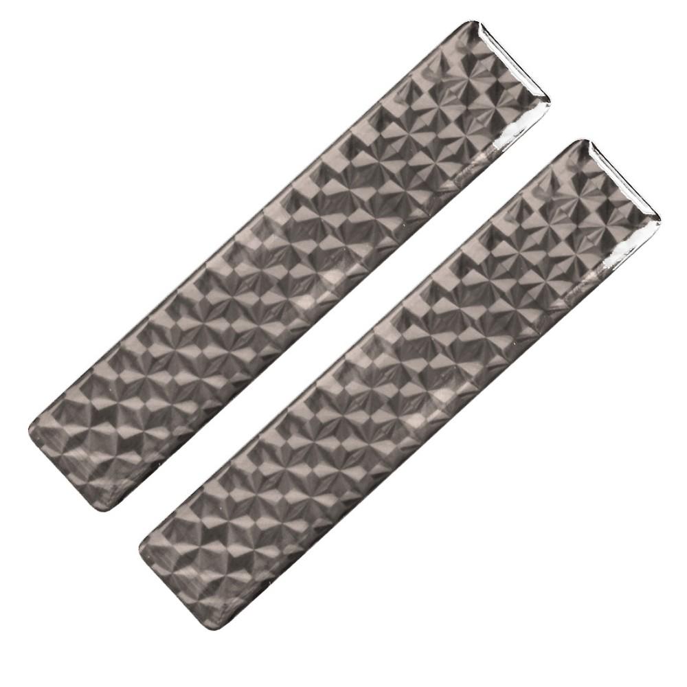 Fényvisszaverő matrica 2db-os 2x10cm műgyantás grafit-szürke 827