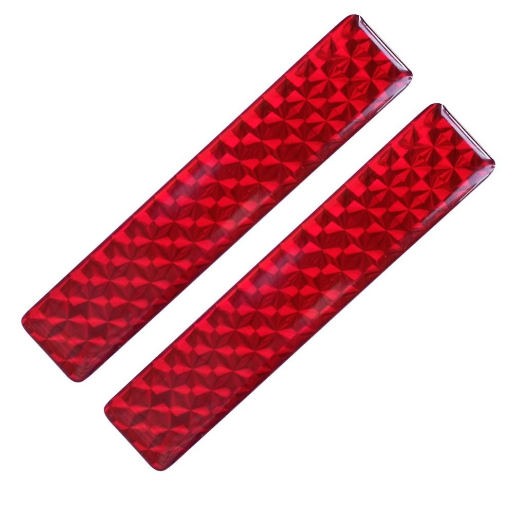 Fényvisszaverő matrica 2db-os 2x10cm műgyantás piros 721