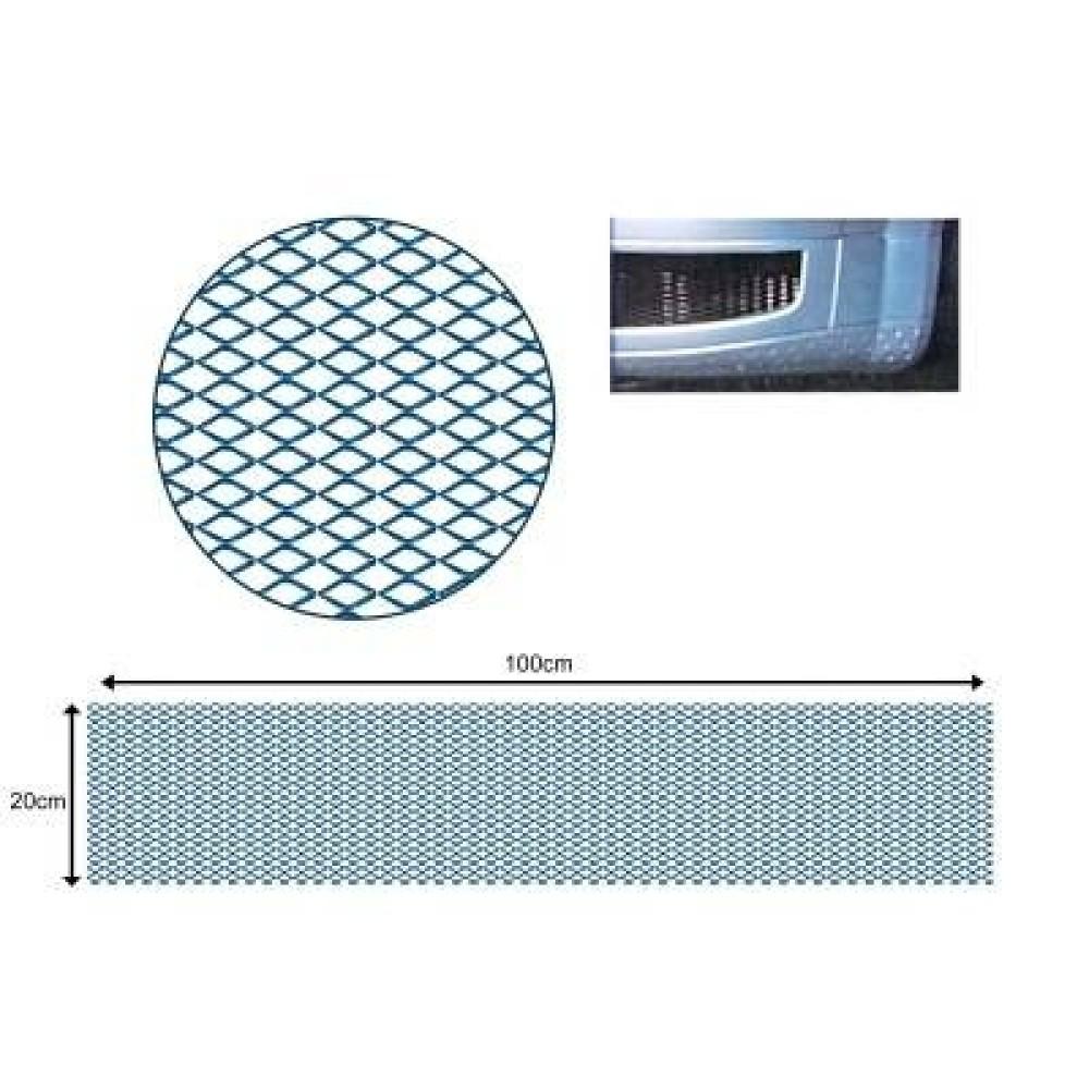 Hűtőrács alu 120x20 grill háló kék