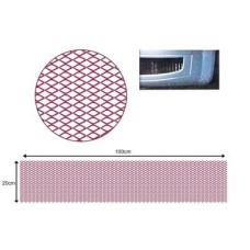 Hűtőrács alu 120x20 grill háló piros