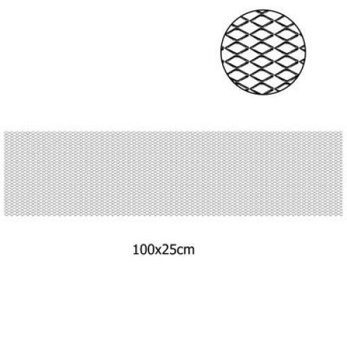 Hűtőrács fekete (grill rács) 100x25cm AM9768
