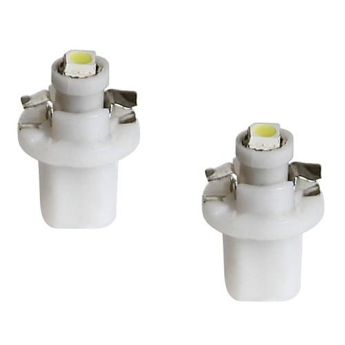 Izzó 12V B8,5D SMD LED, fehér 2db