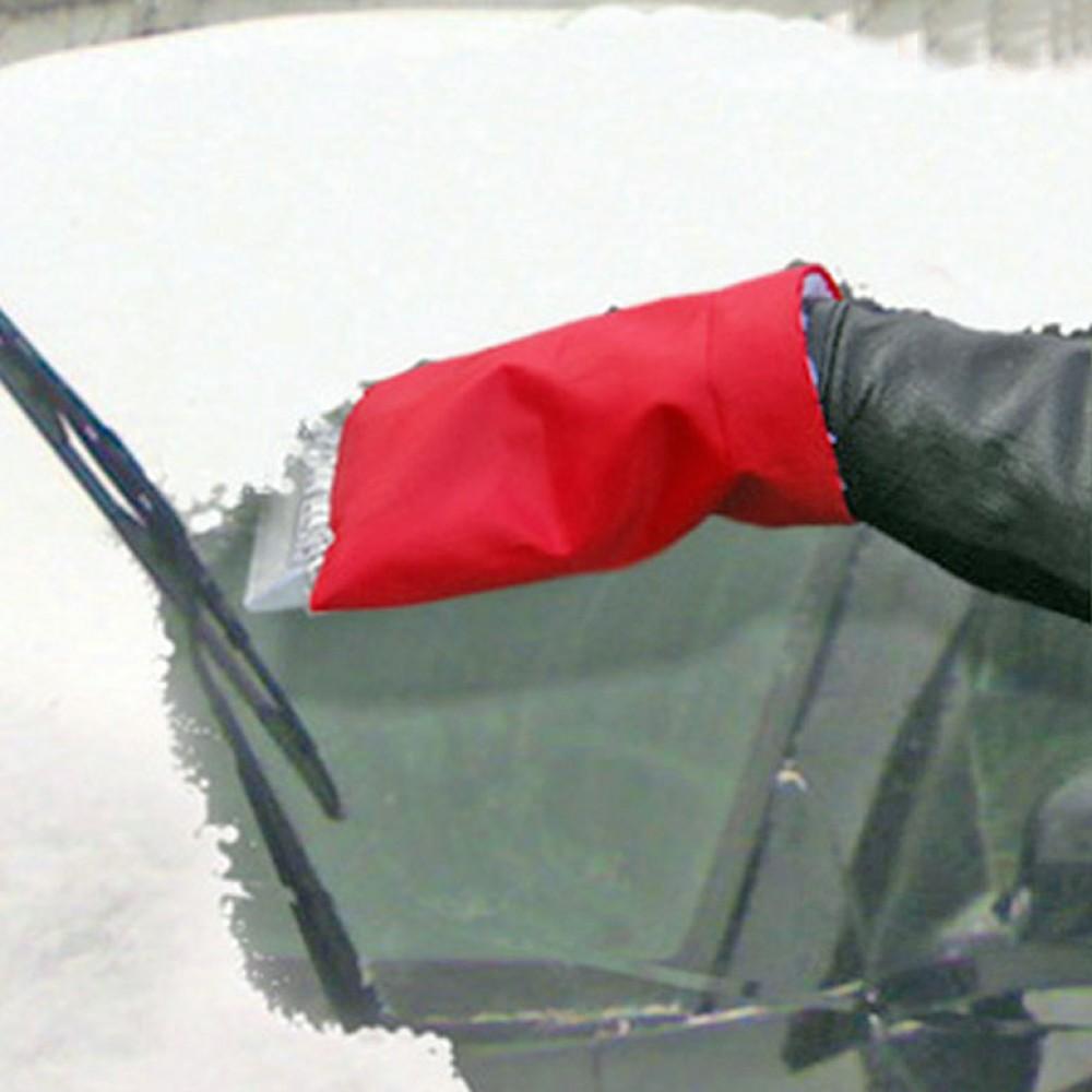 Jégkaparó kesztyűs