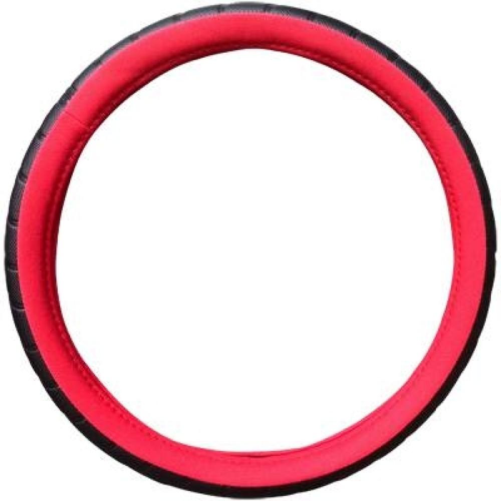 Kormányvédő fekete-piros 25-7-1 (36-38cm)