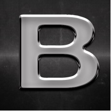 Krómozott betű B 27x27mm 201023