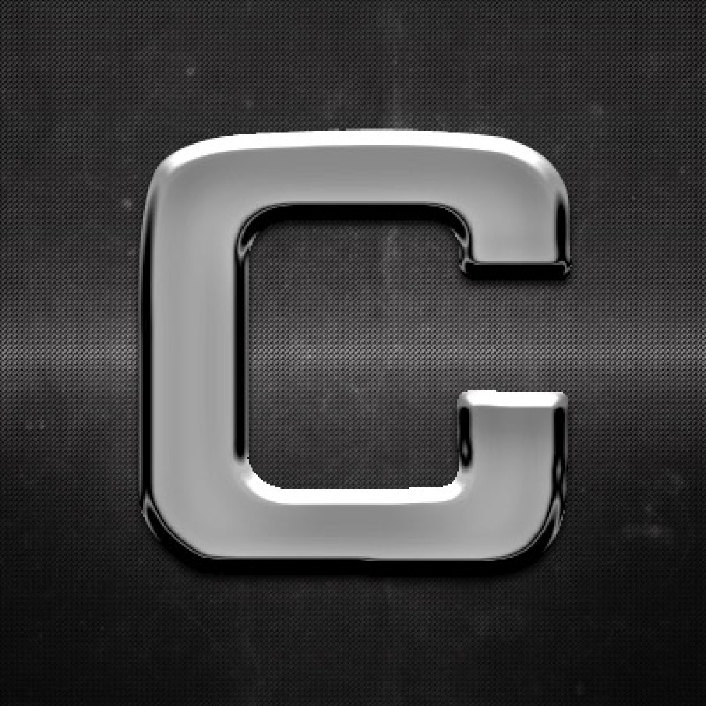 Krómozott betű C 27x27mm 20103