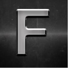 Krómozott betű F 27x27mm 20106