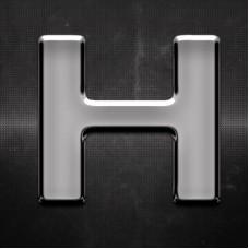 Krómozott betű H 27x27mm 20108