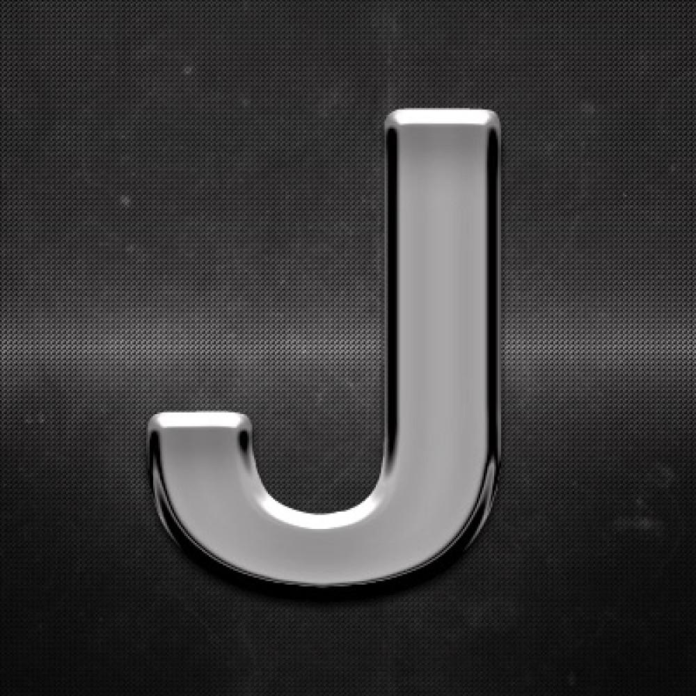 Krómozott betű J 27x27mm 20110