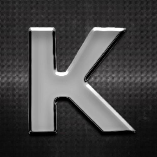 Krómozott betű K 27x27mm 20111