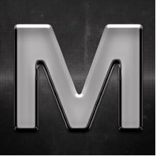 Krómozott betű M 27x27mm 20113