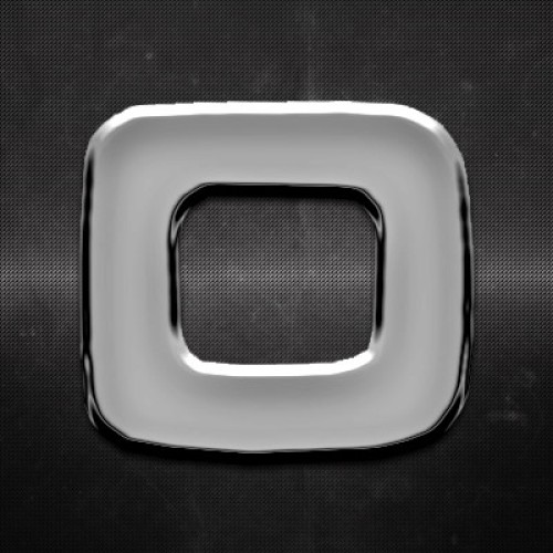 Krómozott betű O 27x27mm 20115