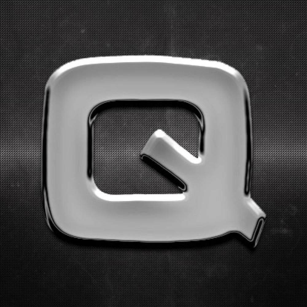 Krómozott betű Q 27x27mm 20117
