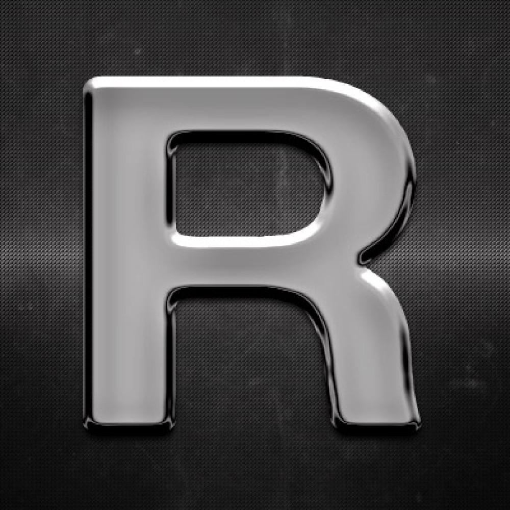 Krómozott betű R 27x27mm 20118