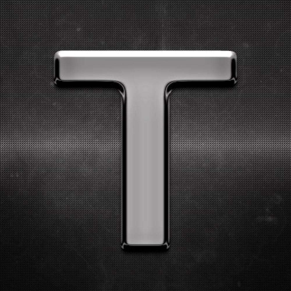 Krómozott betű T 27x27mm 20120