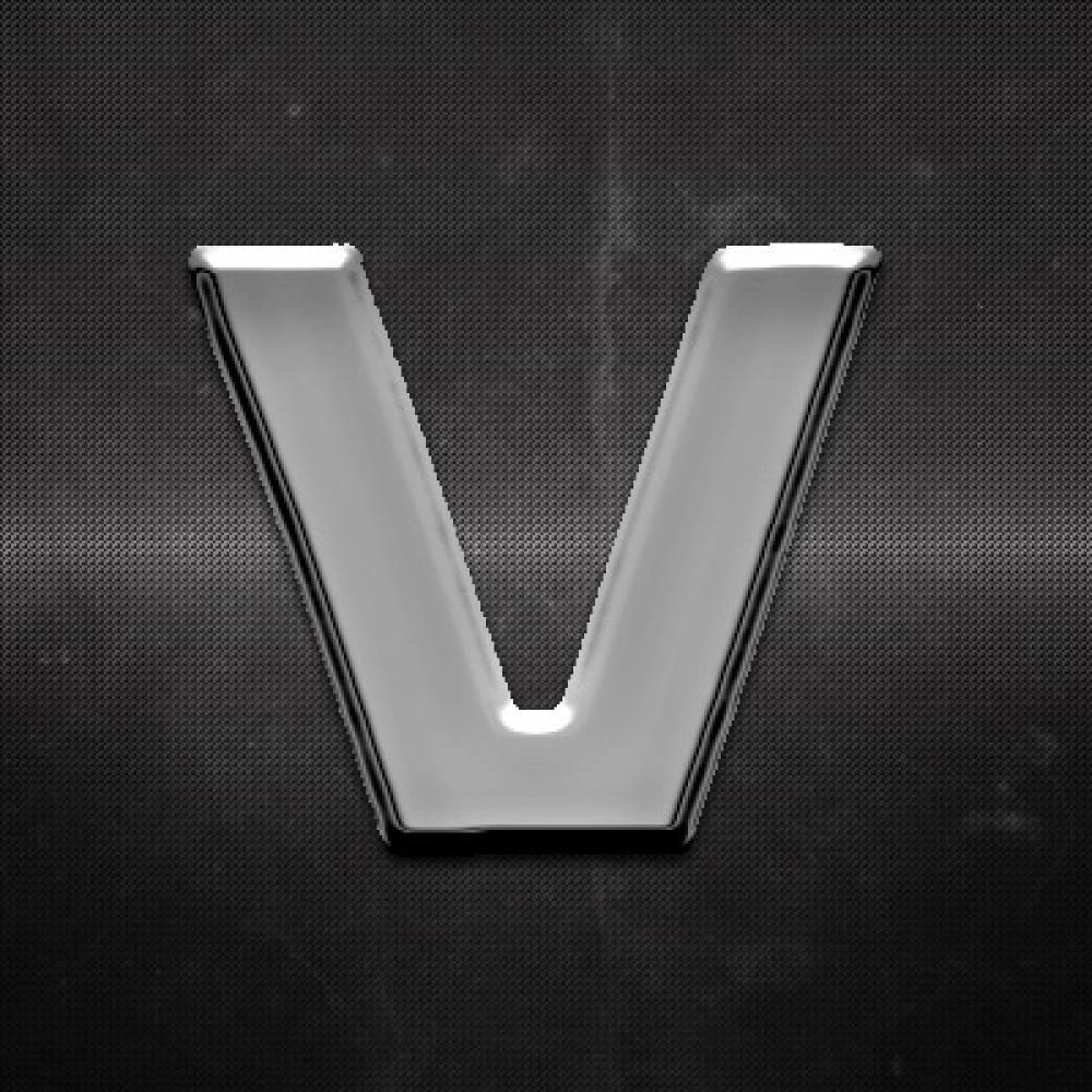 Krómozott betű V 27x27mm 20122