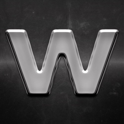 Krómozott betű W 27x27mm 20123