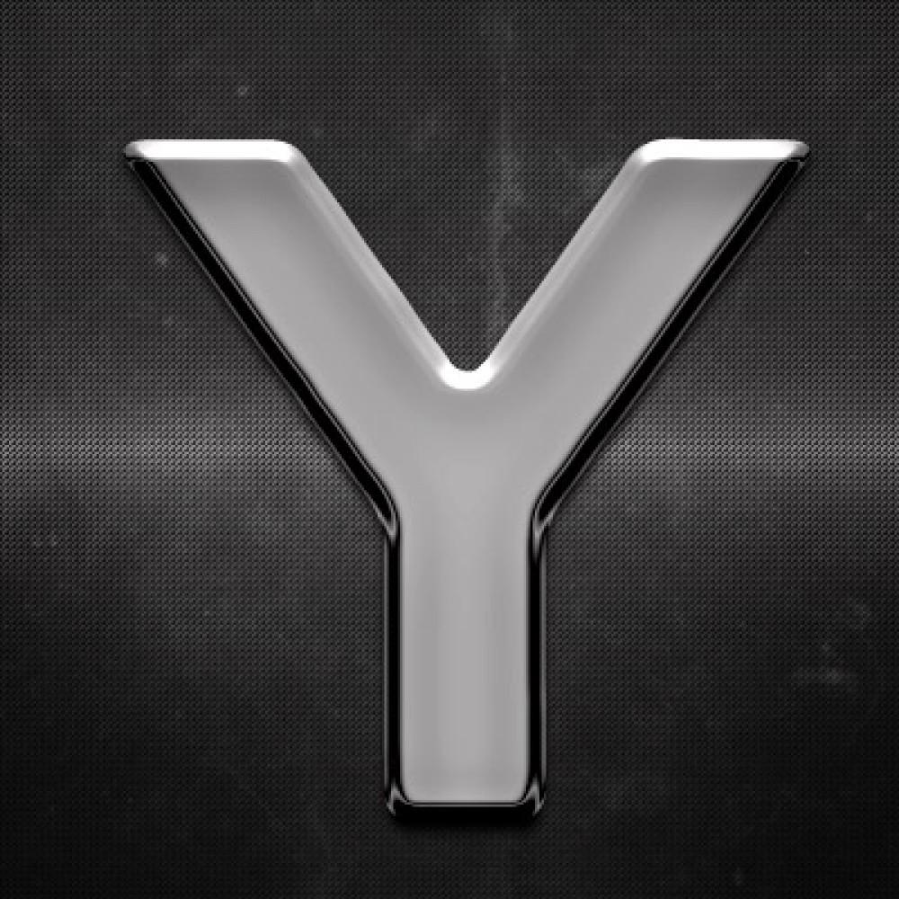 Krómozott betű Y 27x27mm 20125