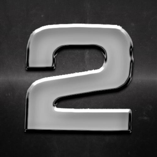 Krómozott szám 2 27x27mm 20129