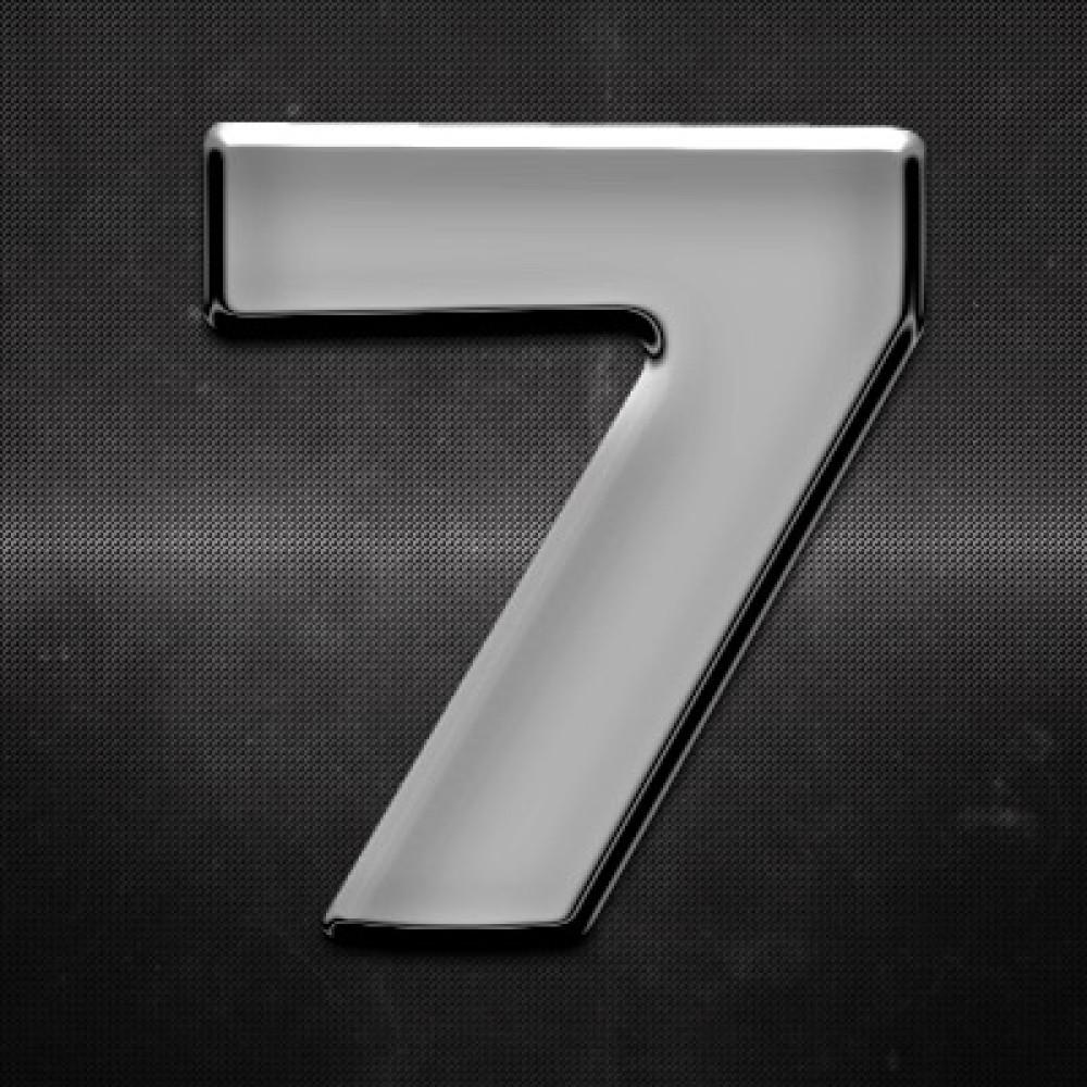 Krómozott szám 7 27x27mm 20134