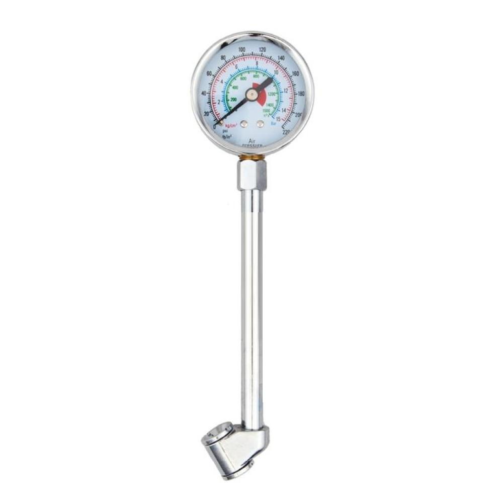 Légnyomásmérő hosszú fémházas 15 Bar-ig 91714