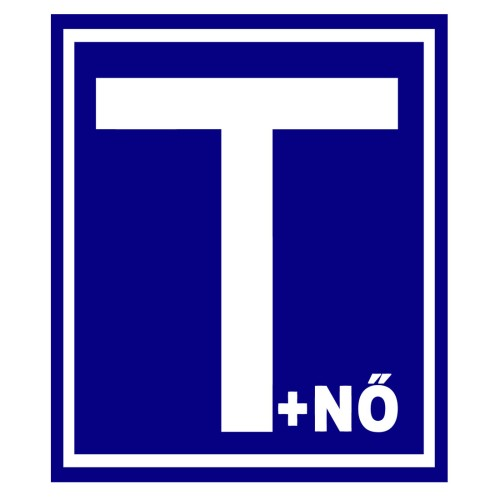 Mágneses T +nő (Tanuló vezető + nő) jelzés autóra