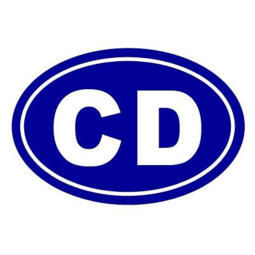 Matrica, CD azaz Diplomata KÉK jelzés 140x100mm