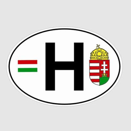 Matrica magyar jelzés zászlóval és címerrel 80/309