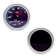 Műszer fekete tükrös vákuum mérő 52mm LED7706-2