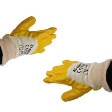 Olaj-és saválló munkás kesztyű (sárga)