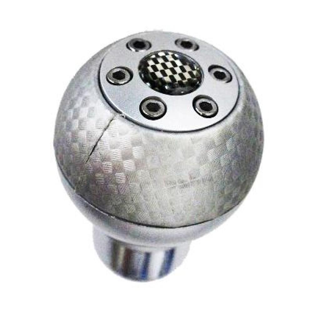 Sebességváltó gomb ezüst-karbon 6152