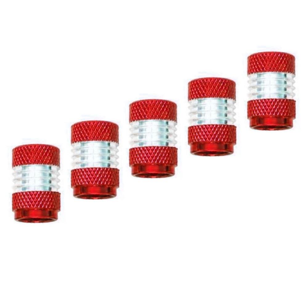 Szelepsapka 5db-os piros-ezüst 38012