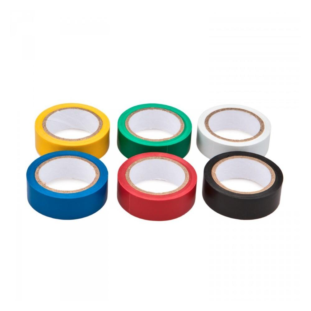 Szigetelőszalag készlet 6db-os vegyes színes