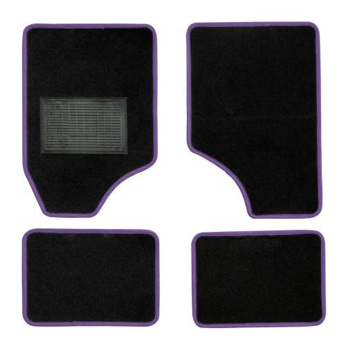 Textilszőnyeg autóba 4db-os fekete-kék univerzális