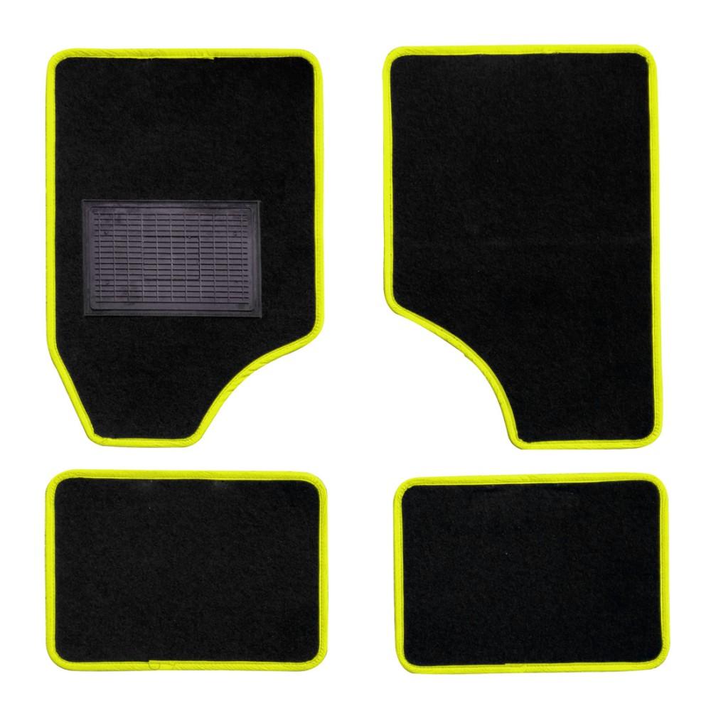 Textilszőnyeg autóba 4db-os fekete-sárga univerzális