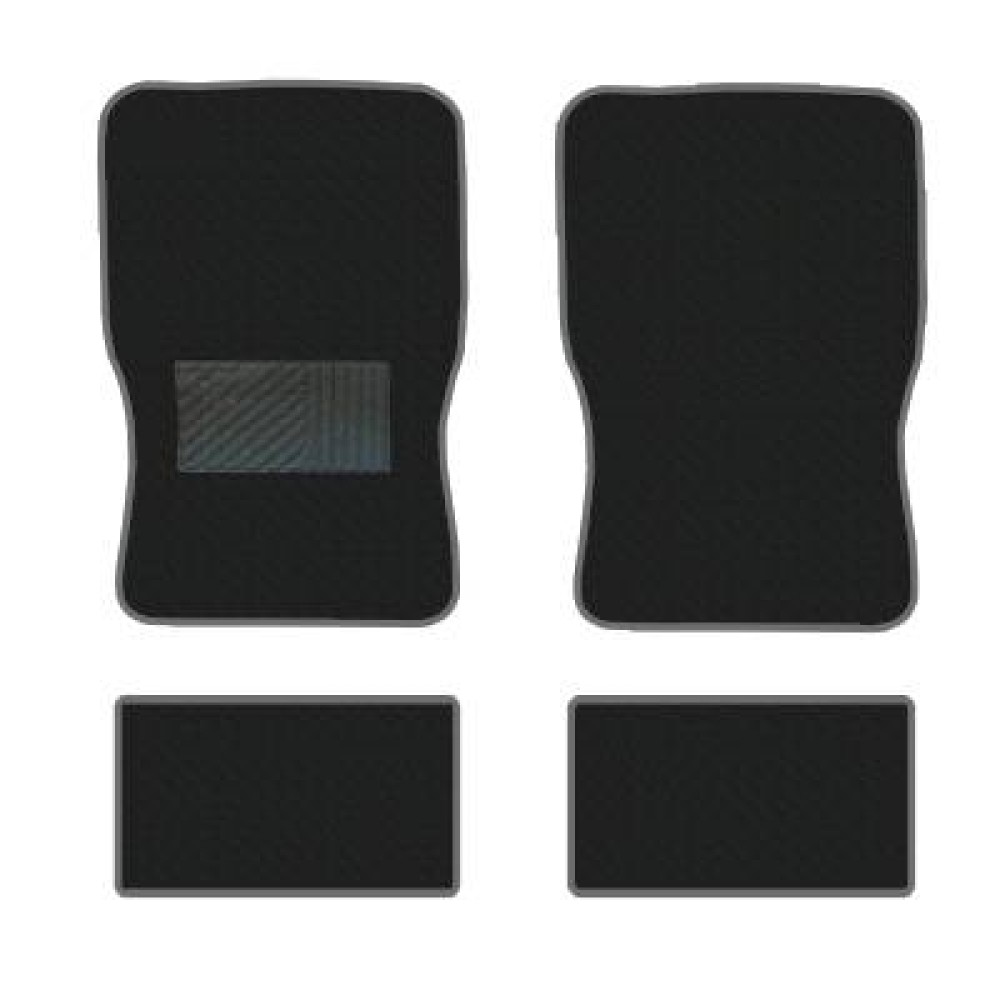 Textilszőnyeg garn. 4db-os fekete betétes
