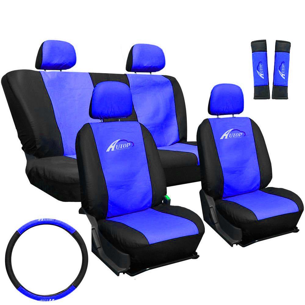 Üléshuzat szett fekete-kék 11db-os ajándékkal AG23001