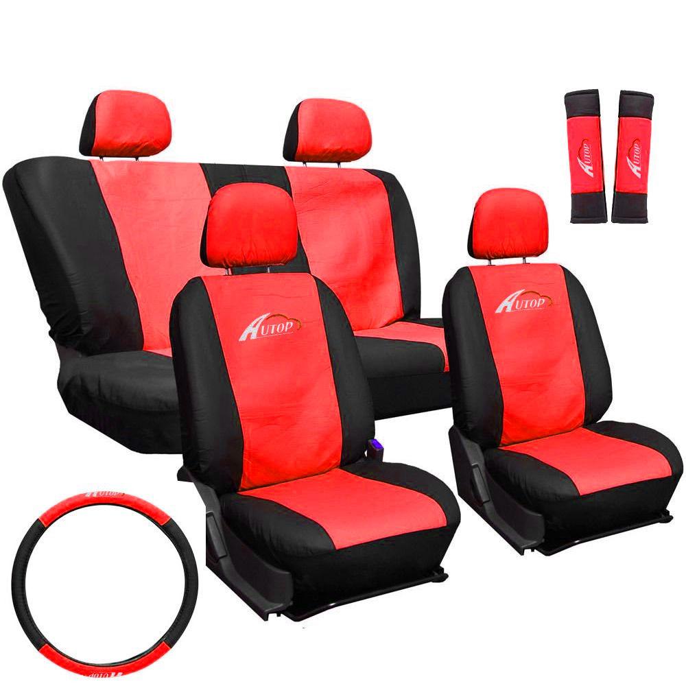 Üléshuzat szett fekete-piros 11db-os ajándékkal AG23001