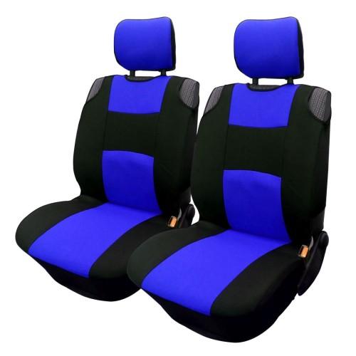 Üléshuzat univerzális betétes fekete-kék első ülésekre