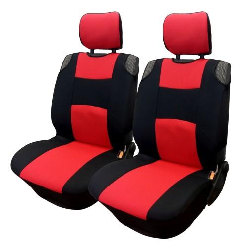 Üléshuzat univerzális betétes fekete-piros első ülésekre