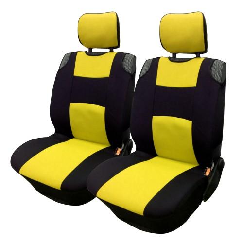 Üléshuzat univerzális betétes fekete-sárga első ülésekre